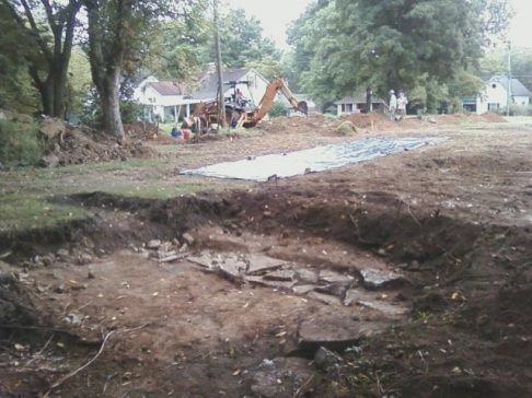 Sept 12 2014 excavation Carter Hill and BGA foundation