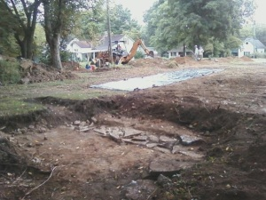 Sept 12 2014 excavation Carter Hill and BGA foundation