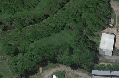 Google earth image of Fort Granger